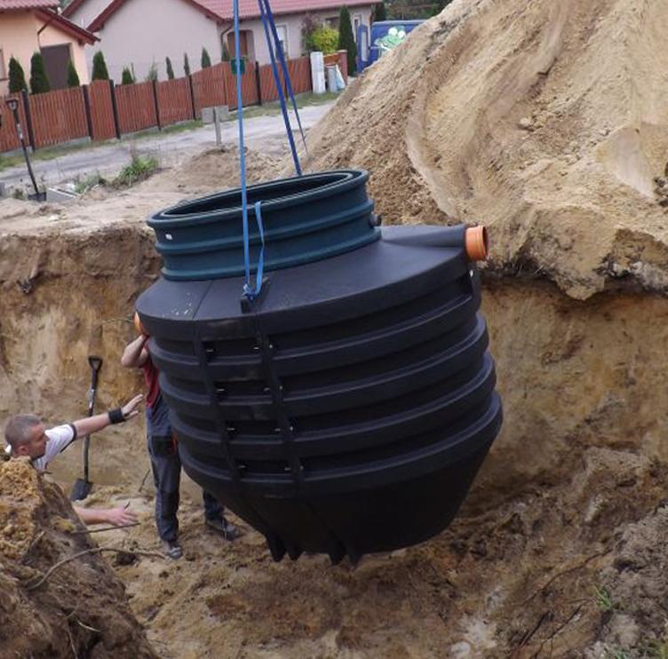 Установка автономной канализации в котлован