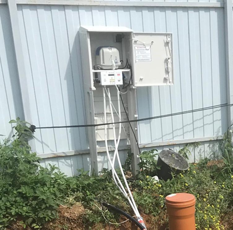 Монтаж воздухопроводов к шкафу управления станции