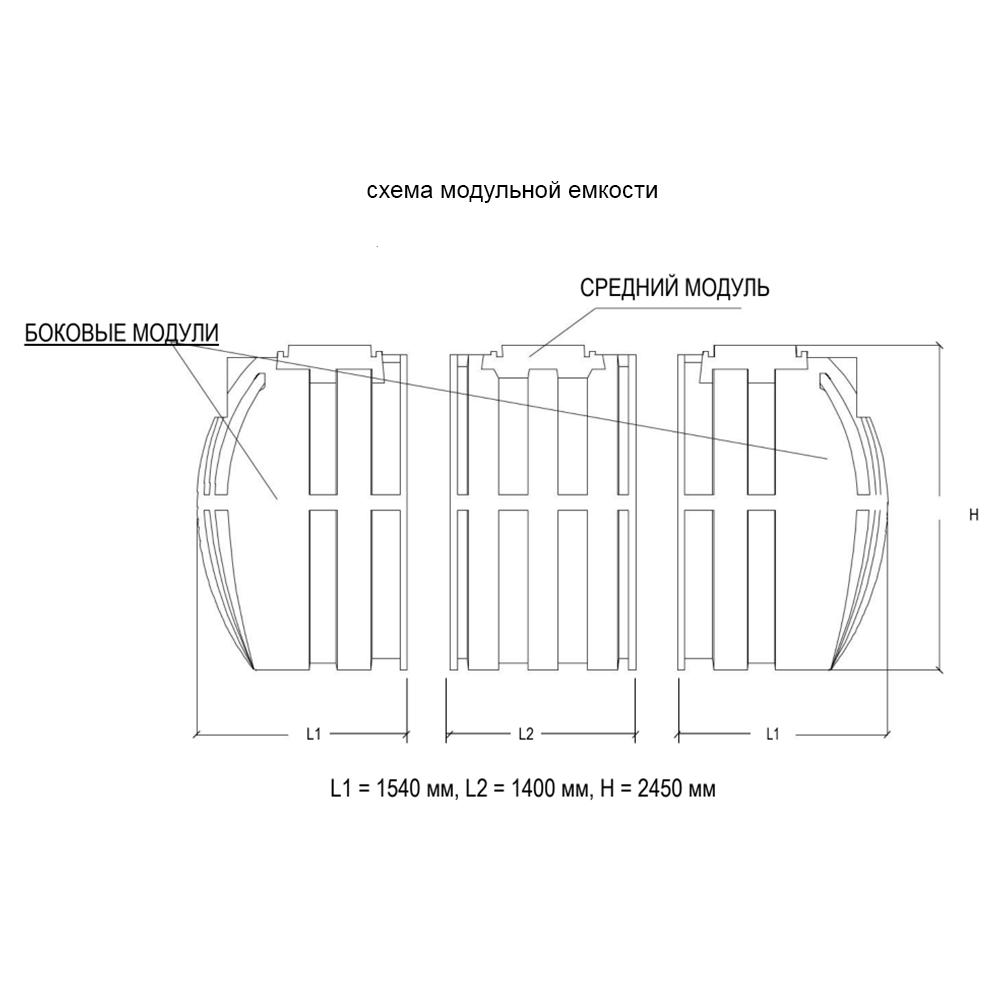 Схема модульной емкости DELFIN_ZB-M