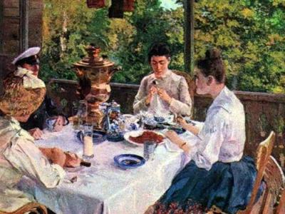 K.Korovin-za chainim stolom-1888