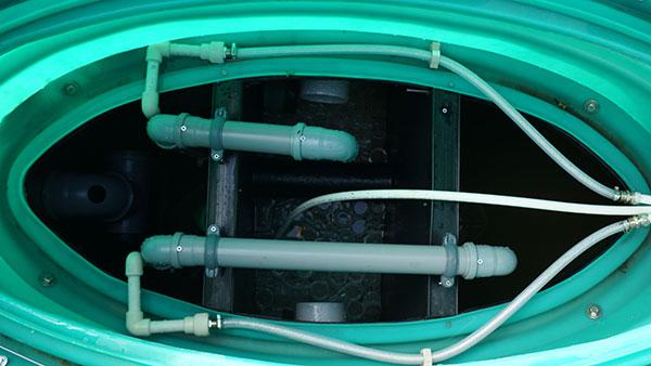 Подвод компрессора в автономную канализацию