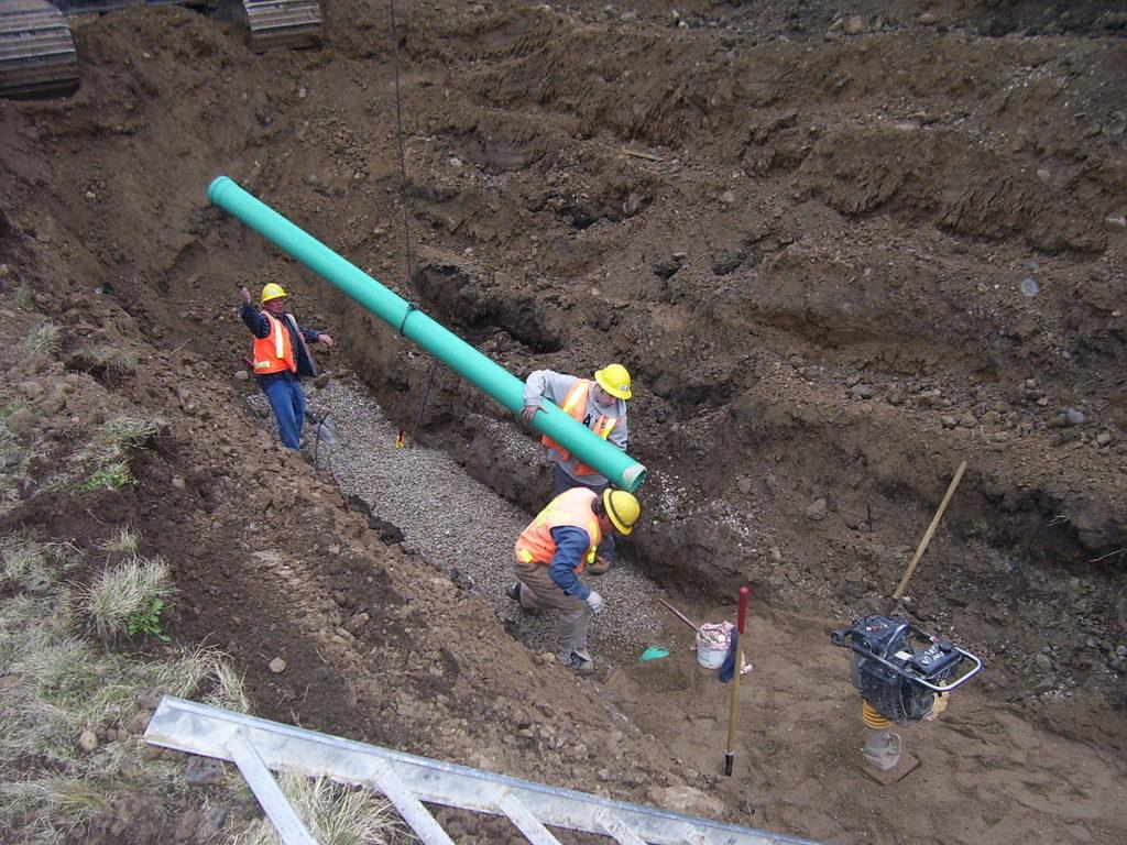 Районные линии канализации