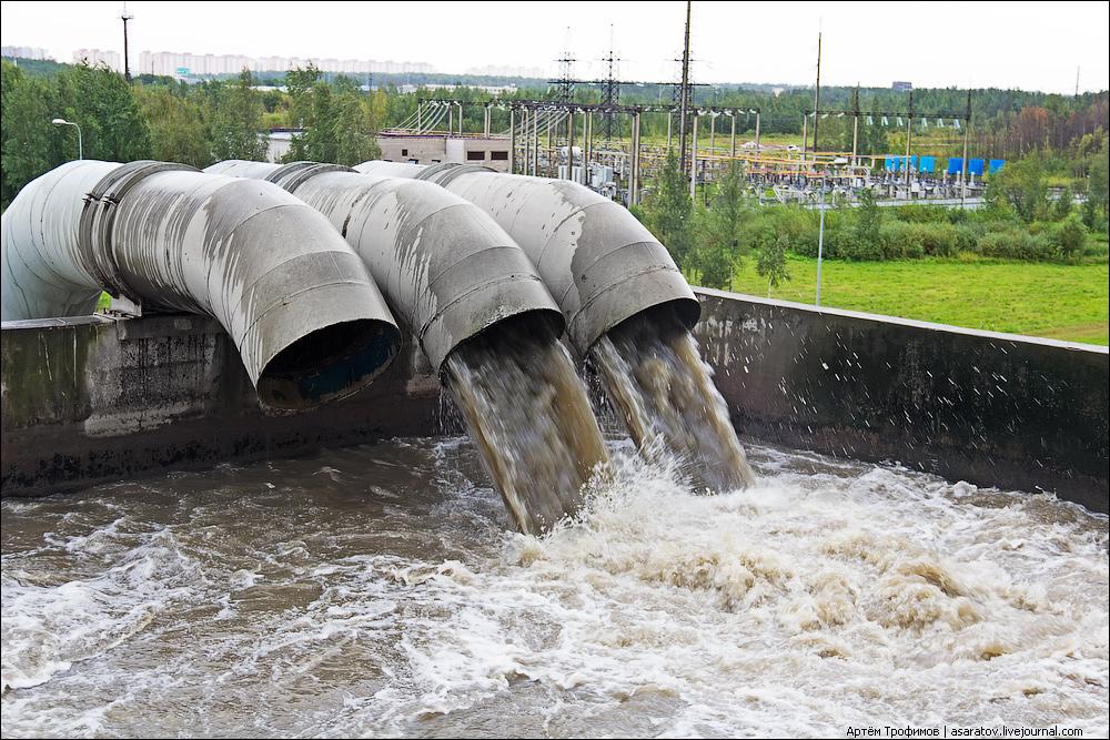 Сточные воды в канализационных сетях